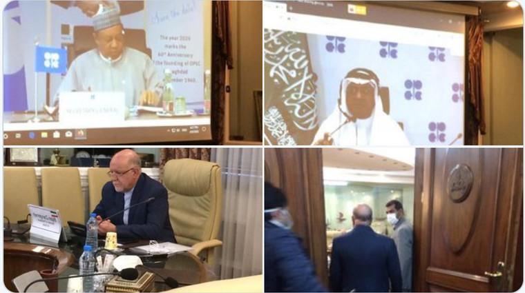 Konferencja OPEC+ w kwietniu. Źródło: Twitter OPEC