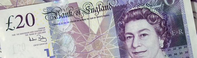 GBP: PMI poniżej prognoz